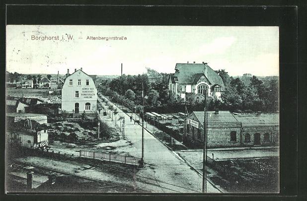 AK Borghorst, Blick auf die Altenbergerstrasse