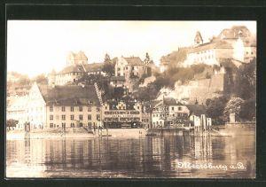 AK Meeresburg, Ortsansicht vom Wasser aus gesehen