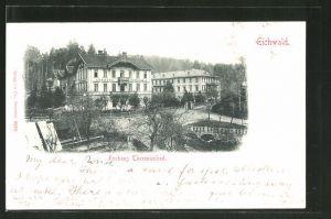 AK Eichwald, Blick zur Kurhaus Theresienbad