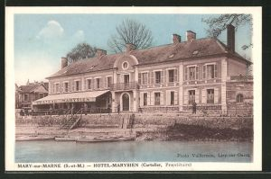 AK Mary-sur-Marne, Blick zum Hotel Marysien
