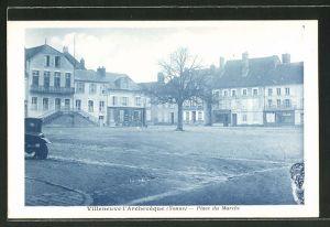 AK Villeneuve-l'Archeveque, Place du Marché