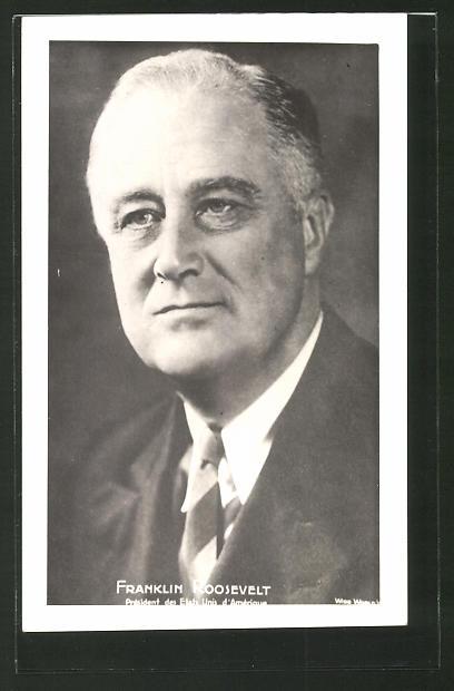 AK Franklin Roosevelt, Präsident der USA