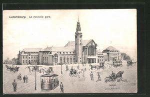 AK Luxembourg, La Nouvelle Gare, Bahnhof