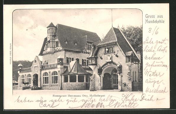 AK Berlin-Grunewald, Blick zum Gasthaus