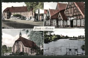 AK Preetz, Hotel Klostertor, Ballhaus Preetz, Klosterkirche, Kirchsee