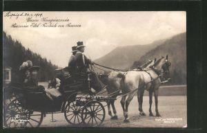 AK Prinz Eitel Friedrich von Preussen auf einer Kutschfahrt