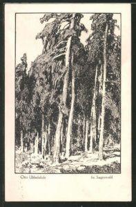 Künstler-AK Otto Ubbelohde: Meine Wälder, Im Sagenwald