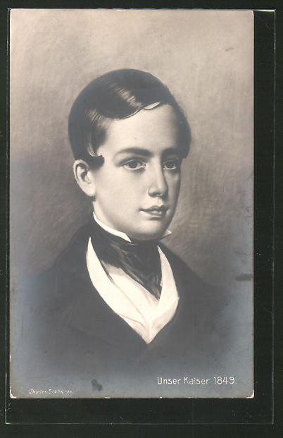 Künstler-AK Charles Scolik: Unseres Kaiser, 1849