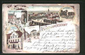 Lithographie Friedrichstadt, Hotel zum Holsteinischen Hause, Hotel Stadt Hamburg, Hollmerthor