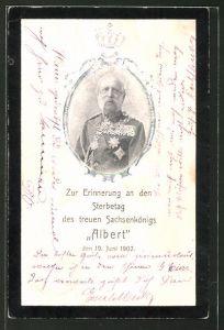 AK Portrait von König Albert von Sachsen in Uniform