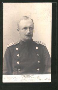 AK König Friedrich August III. von Sachsen in Uniform