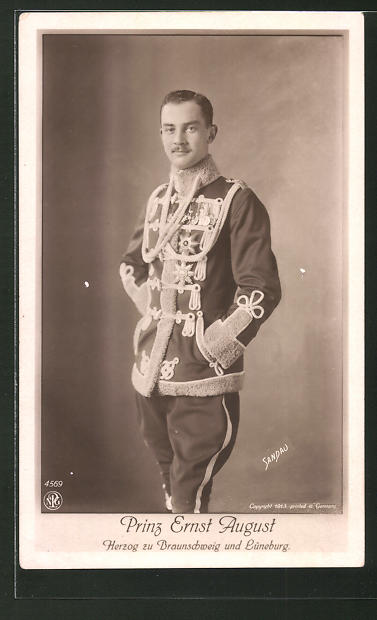 AK Prinz Ernst August Herzog zu Braunschweig und Lüneburg in Uniform