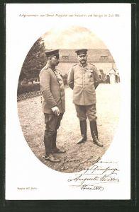 AK Kaiser Wilhelm II., aufgenommen von Ihrer Majestät der Kaiserin 1915