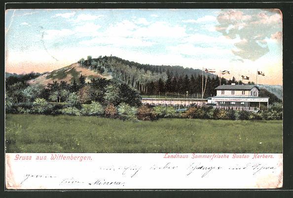 AK Hamburg-Wittenbergen, Ansicht des Landhaus Sommerfrische Gustav Herbers