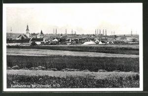 AK Zistersdorf, Teilansicht mit Blick auf Erdölbohrtürme