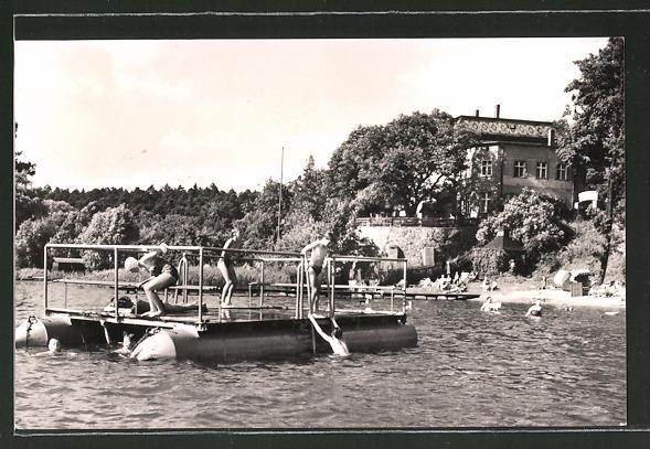 AK Buckow, See-Badeanstalt und FDGB-Erholungsheim