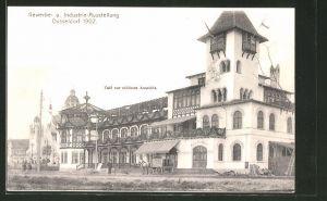 AK Düsseldorf, Industrie- & Gewerbe-Ausstellung 1902, Cafe zur schönen Aussicht