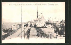 AK Düsseldorf, Industrie-, Gewerbe- und Kunst-Ausstellung 1902, Panorama