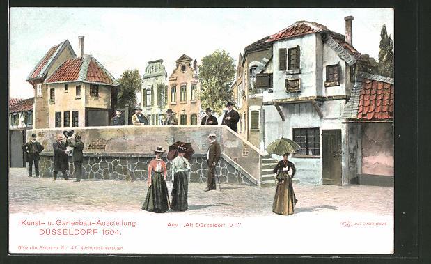Gartenbau Düsseldorf ak düsseldorf kunst und gartenbau ausstellung 1904 partie aus alt