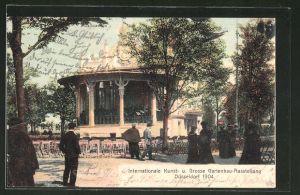 AK Düsseldorf, Internationale Kunst- und Grosse Gartenbau-Ausstellung 1904, Blick auf das Musikpavillon