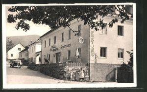 AK Altenmarkt, Strassenpartie an der Pension Schönauer