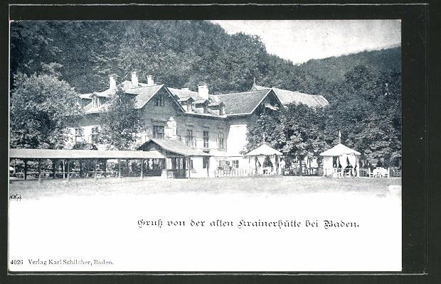 AK Baden, Blick auf das Hotel Krainerhütte