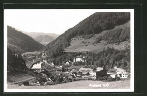 AK Freiland, Ortspartien mit Bergen