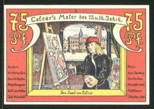 Notgeld Calcar 1922, 75 Pfennig, Jan Joest von Calcar