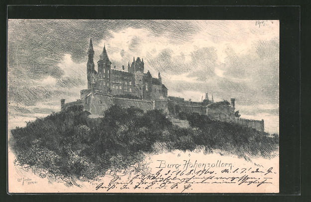Künstler-AK Angelo Jank: Burg Hohenzollern