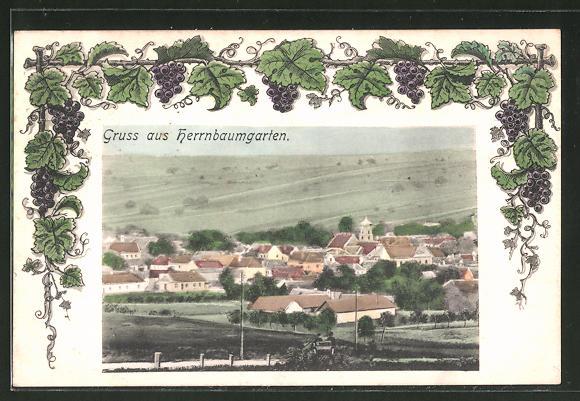 AK Herrnbaumgarten, Panorama vom Feld aus gesehen