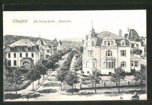 AK Elberfeld, Siegesallee, Strasse am Zoologischen Garten