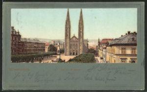 AK Wiesbaden, Blick auf die katholische Kirche