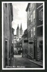 AK Altenburg, Strassenpartie mit Blick auf die Roten Spitzen