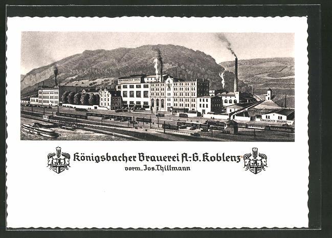 Thillmann Koblenz ak koblenz königsbacher brauerei ag jos thillmann nr 7609023