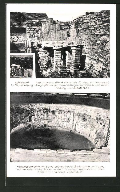 AK Eining, Ansichten der Ausgrabungsstätte Römer-Kastell Abusina