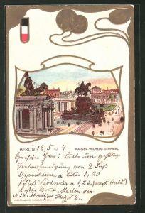 Passepartout-Lithographie Berlin, Kaiser Wilhelm Denkmal