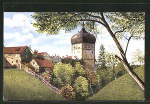 AK Alt-Bregenz, Blick zum Martinsturm