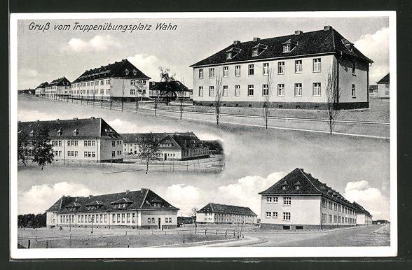 AK Köln-Wahn, Totalansicht Truppenübungsplatz