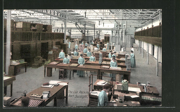 AK Port Sunlight, The Lux Packing Room, Seife-Manufaktur