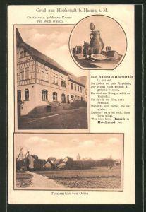 AK Hochstadt, Gasthaus zur goldenen Krone, Ortsansicht von Osten