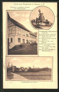 AK Hochstadt, Ansicht vom Gasthaus zur goldenen Krone, Ortsansicht von Osten