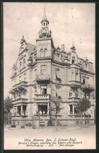 AK Bad Nauheim, Hotel Villa Astoria, gegenüber den Bädern und Kurpark