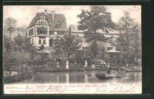 AK Wald, Gasthaus Itterthaler Volksgarten