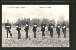 AK Lechfeld, Lager Lechfeld, Marsch ins Arrest