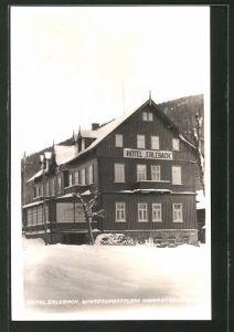 AK Harrachsdorf, Hotel Erlebach im Winter