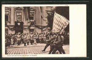 AK Przemysl, Einzug der Siegreichen Deutschen