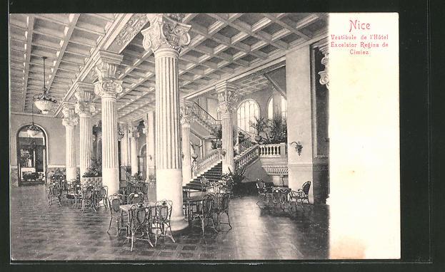 AK Nice, Vestibule de l'Hotel Excelsior Regina de Cimiez