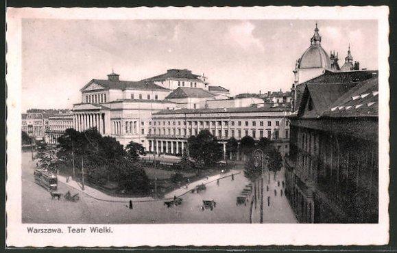 AK Warschau-Warszawa, Teatr Wielki