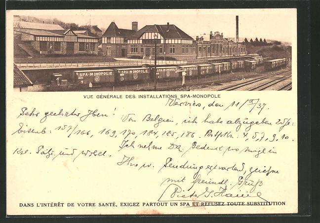 AK Spa, Vue générale des installations Spa-Monopole, Güterzug