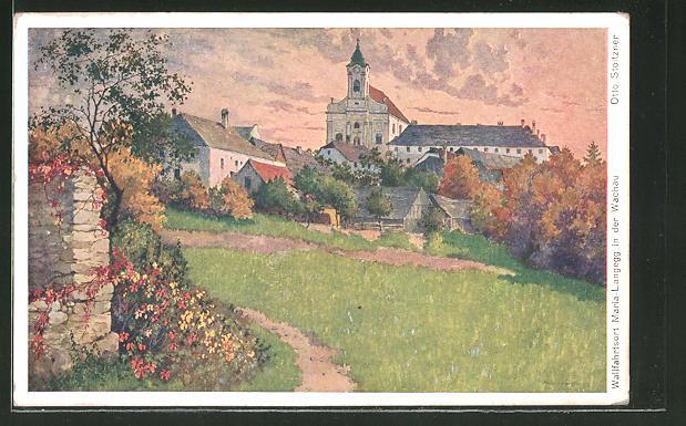 Künstler-AK Otto Stoitzner: Maria-Langegg in der Wachau, Panorama